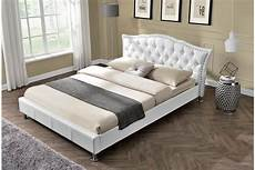 georgio white designer bed frame king size