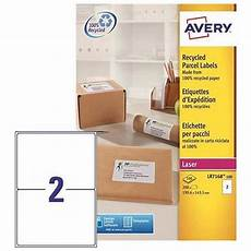 Avery 2 Labels Per Sheet Avery Addressing Labels Laser Recycled 2 Per Sheet 199
