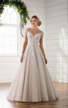 illusion sleeve wedding dress with keyhole back essense