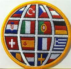 embroidery patches soccer with country flags embroidered iron on patch