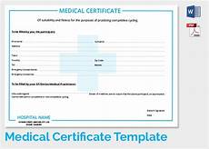 Medical Certificate Templates Free 54 Sample Medical Certificates In Pdf Ms Word
