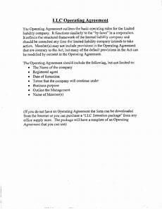 Template For Llc Operating Agreement 2019 Llc Operating Agreement Template Fillable