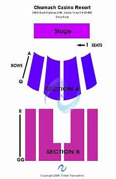 Chumash Casino Concerts Seating Chart Chumash Casino Seating Chart