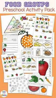 Food Chart For Kids Food Groups Preschool Activity Pack Group Meals
