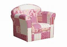 kidsaw mini armchair pink patchwork upholstered arm