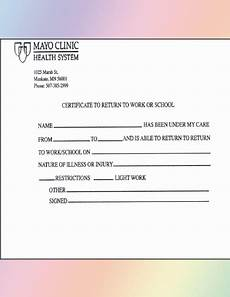 Return To Work Doctor S Note How To Get A Return To Work Doctor S Note 5 Best