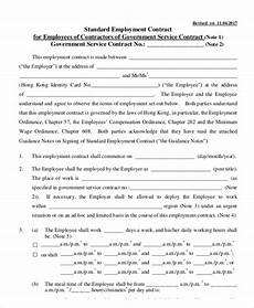 Bill Format For Works Contract 18 Employment Contract Templates Pages Google Docs