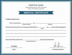 Medical Certificate Templates Free Hospital Medical Certificate Template 8 Free Word