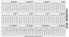 One Page Yearly Calendar 2020 Year Calendar 1 Page Ten Free Printable Calendar 2019 2020