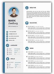 Cv Template Word Download Cv Templates Gratuit 4 Templates Example Templates