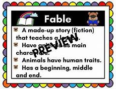 Fable Anchor Chart 2nd Grade Fable Anchor Chart By No Fluff Zone Teachers Pay Teachers