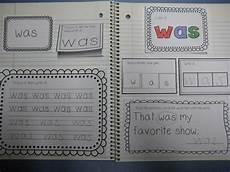 Journal Word The Kindergarten Pod Interactive Sight Word Journal Primer