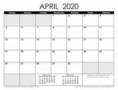 print calendar april 2020 2020 calendar templates and images