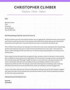 Cover Letters Career Change How To Write A Career Change Cover Letter Climb Credit