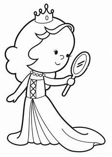 Malvorlagen Meerjungfrau Quiz Kostenlose Malvorlage Prinzessin Prinzessin Mit Spiegel