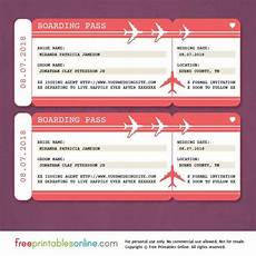 Sample Boarding Pass Template Red Boarding Pass Save The Date Template Free Printables