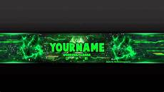 You Tube Banner Youtube Banner Template Green Psd Photoshop Youtube