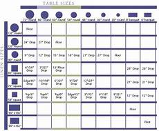 Cv Linen Chart Table Linen Size Chart With Images Meeting Planning