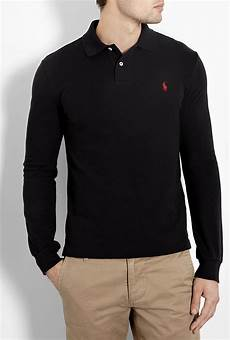ralph sleeve polo shirts for polo ralph black sleeve slim fit polo shirt in