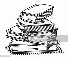 stack of books education drawing vector getty images