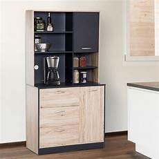 homcom wooden freestanding kitchen multi purpose storage