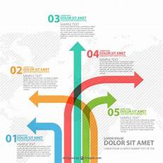 Infographic Arrow Different Way Arrows Infographics Free Vector