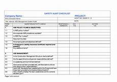 Checklist Sample Doc Safety Audit Checklist Sample Copy