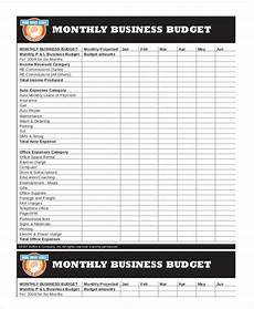 Budget Business Printable Monthly Budget Template 21 Free Excel Pdf