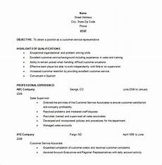 How To Word Customer Service On Resume 10 Customer Service Resume Templates Doc Pdf Excel