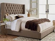 westerly brown upholstered king bed set unclaimed