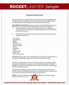 Technical Writing Example Technical Writing Contract Agreement Form With Sample