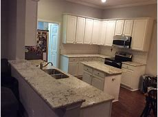 White Orion Granite Countertops Installation