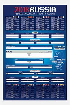 Fifa World Cup Russia Wall Chart Russia 2018 Football World Cup Wall Chart Poster New