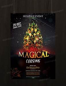 Free Christmas Flyer Psd Download Magical Christmas Free Psd Flyer Template