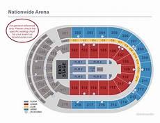 Gund Arena Seating Chart Seating Charts Nationwide Arena