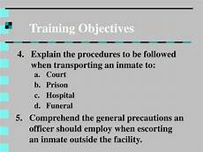 Trainer Objectives Ppt Inmate Movement Powerpoint Presentation Id 758795