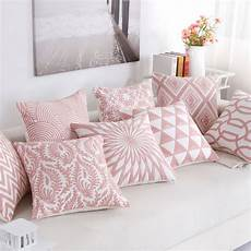 aliexpress buy embroidered throw pillow cover pink