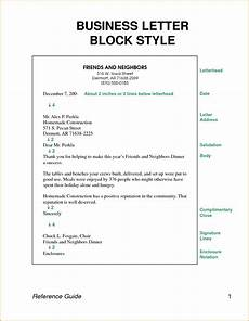 Block Cover Letter Business Letter Block Style Letters Format Download Free