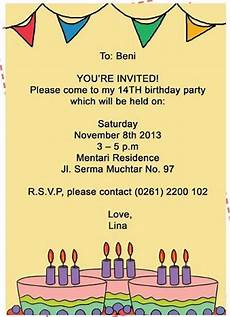 contoh invitation party birthday contoh two