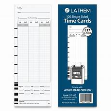 Semi Monthly Time Card Lathem Time E17 100 Time Card Bi Weekly Monthly Semi