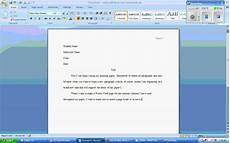 Microsoft Word Mla Microsoft Word 2007 Mla Formatting Wmv Youtube
