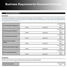 Sample Business Requirements Document Reviewers Business Requirements Document Example