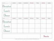 Dinner Plan Template Weekly Meal Plan Template 2weekmealplanner Coastal Png