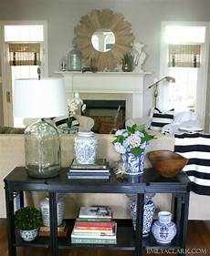 Sofa Table Decorations For Living Room 3d Image by Styling A New To Me Console Table Emily A Clark