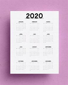 At A Glance 2020 Free Yearly Overview Printable For 2020 Crazy