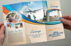 Travel Brochure Cover Design 10 Beautiful Trifold Travel Brochure Tempaltes Psd Pdf