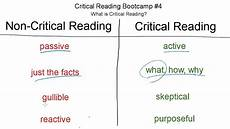 Critical Reading Essay Examples What Is Critical Reading Sat Critical Reading Bootcamp 4