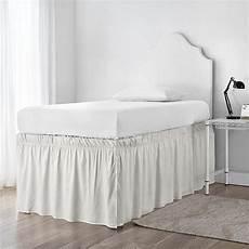 ruffled sized bed skirt jet walmart