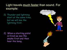 Light And Sound Which Travels Faster 01 How Does Light Travel