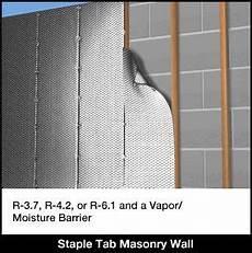 Insulating Concrete Block Walls Concrete Block Wall Insulation Staple Tab Concrete